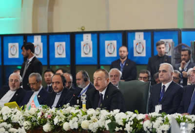 President Aliyev in 13th ECO summit 2017