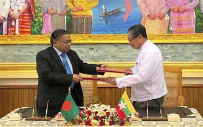 Bangladesh and Myanmar signed an agreement
