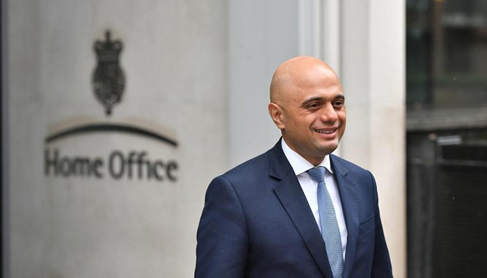 Sajid Javid UK home minister